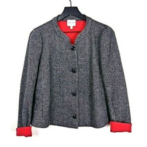 Armani Collezioni Woven Contrast Trim Light Jacket
